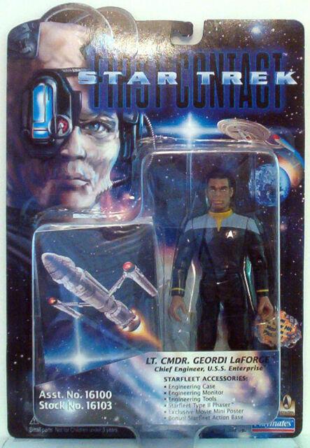 Commander Geordi LaForge Playmates Figure Vintage New in Box Star Trek First Contact Lt