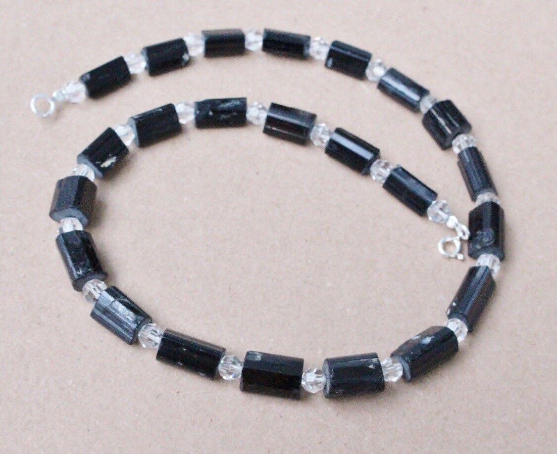 TORMALINA Nera Collane 45 cm cm cm (Schörl-cristalli) con quarzo (k-50) 6f3789