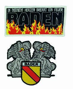verschiedene Aufnäher / Patch - Baden ideal für Kutte, Sammler, Fans, fun