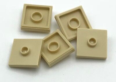 LEGO Lot of 10 Black 2x2 Tiles with Center Stud