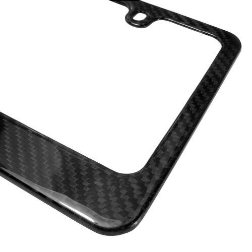 Ford Mustang GT 5.0 Dual Logo Black Real Carbon Fiber License Plate Frame