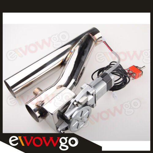 """2/"""" Electric Exhaust Downpipe Testpipe Catback E-Cutout Valve kit Switch Control"""