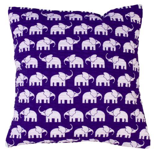 Seersucker Taie d/'oreiller Éléphant Violet Enfants Coussin oreiller Housse Coussin Canapé