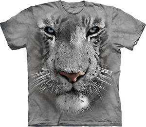 Faccia Tigre Cats Adulto The shirt Mountain Unisex Big T Bianca BxqUaS
