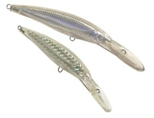 10pcs Unpainted Crankbait Clear Fishing Lure Body Trolling Top Water Blank lures