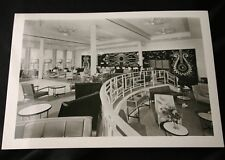 "CGT FRENCH LINE SS ""FRANCE"" Smoking Room Press Photo"