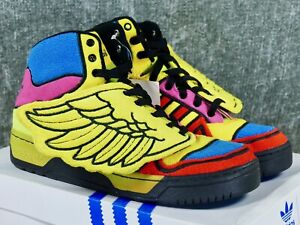 04e2dc7b934f Adidas Jeremy Scott JS Wings Sz 9.5 sun poppy G61380 originals og ...