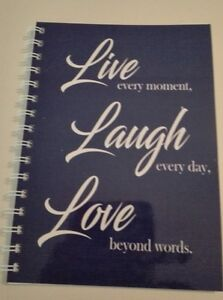 2018 - 2019  year diary blue live love and laugh quote A5