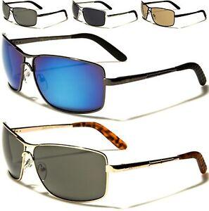 NUOVO-Xloop-occhiali-da-sole-donna-Nero-da-uomo-di-marca-METALLO-AVIATOR
