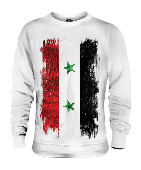 SYRIA GRUNGE FLAG UNISEX SWEATER TOP SURIYAH FOOTBALL SYRIAN GIFT SHIRT