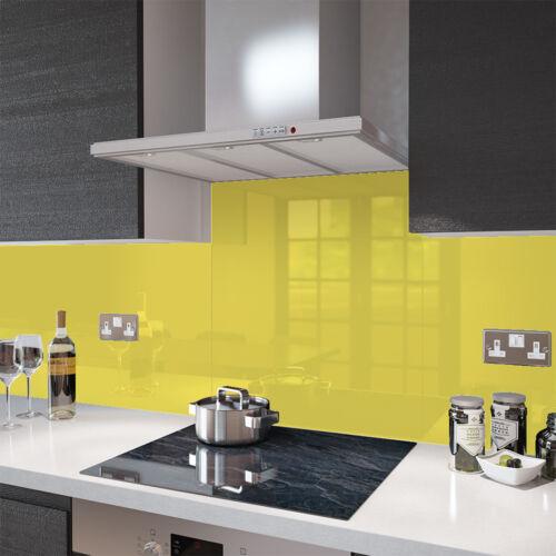 Premier Range Yellow-Glass Splashback Socket cutout 100 Cm Wide x 40 cm High