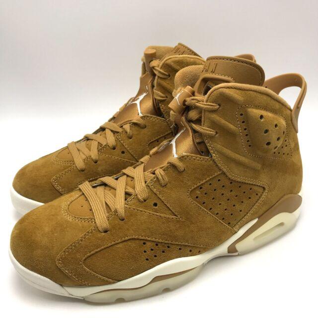 really cheap on feet shots of size 7 Air Jordan 6 VI Retro Golden Harvest Wheat Tan Flax 384664-705 Size 10