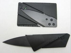 Шулер кредитная карта складная бритва острого бумажник нож выживания инструмент тонкий черный