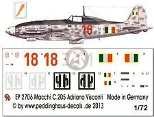 Peddinghaus 1/72 Macchi C.205V Veltro Serie III Markings Adriano Visconti 2706
