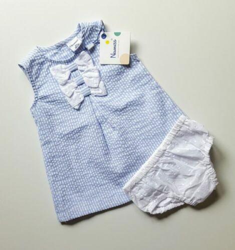 Baby Girls Blue and White Newness Dress Spanish