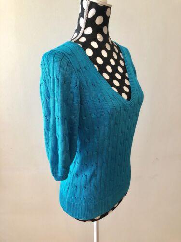 M Ralph Størrelse Sweater Jakke Kvinder Lauren Aqua HxYw4qrHa