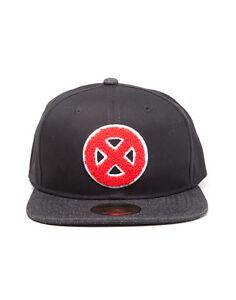 567d220cd48 OFFICIAL MARVEL COMICS X-MEN RED SYMBOL BLACK SNAPBACK CAP (BRAND ...