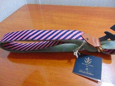 NEW Mens Brooks Brothers Kiel James Patrick Handmade Belt Reversible Silk *C1