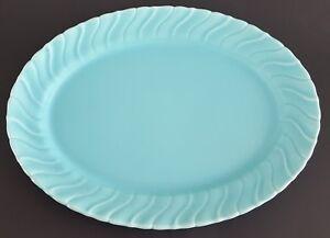Franciscan-Coronado-Oval-Platter-Aqua-Blue-15-1-2-034-Made-in-California-USA