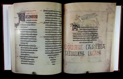 LINDISFARNE GOSPELS 700 AD Facsimile