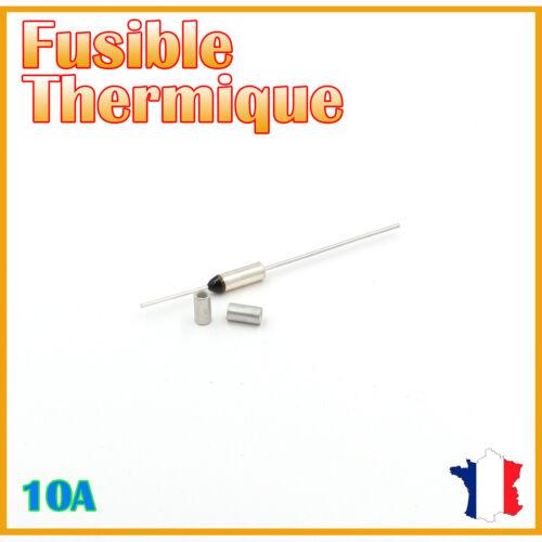 10A//250V AC /& Bagues de sertissage Fusible thermique 66°C