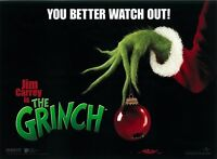 The Grinch Movie Poster - Jim Carrey - 12 X 16 Inches Advance - Dr Seuss