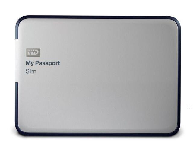 Western Digital My Passport Slim 2TB USB 3.0 Portable Metal External Hard Drive