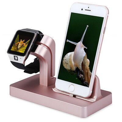 For iPhone 7 6S 6 5S Apple Watch iWatch Charging Dock Stand Bracket Mount Holder