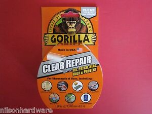 Gorilla Clear Repair Tape Vinyl Patch Inflatable