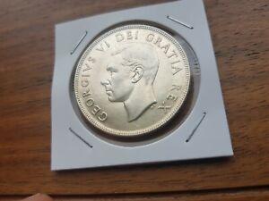 1952-Canada-Silver-One-dollar-Georges-VI