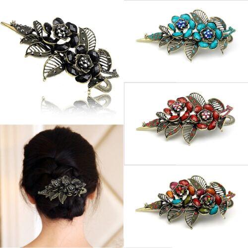 Mode Frauen Rose Blume Haarspange  Acetat Haarnadel Haarspange Schmuck