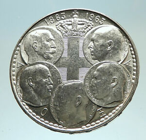 1963-GREECE-w-PAUL-GEORGE-I-amp-II-ALEXANDER-CONSTANTINE-Antique-Silver-Coin-i76826