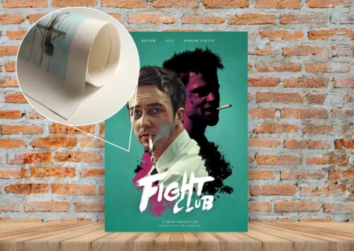 Fight Club Movie Poster or Canvas Art Print Framed Option A3 A4 Sizes