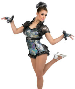 A-Wish-Come-True-Good-Girl-Dance-Wear-Outfit-Gloves-amp-Headpiece-Stunning-XLC