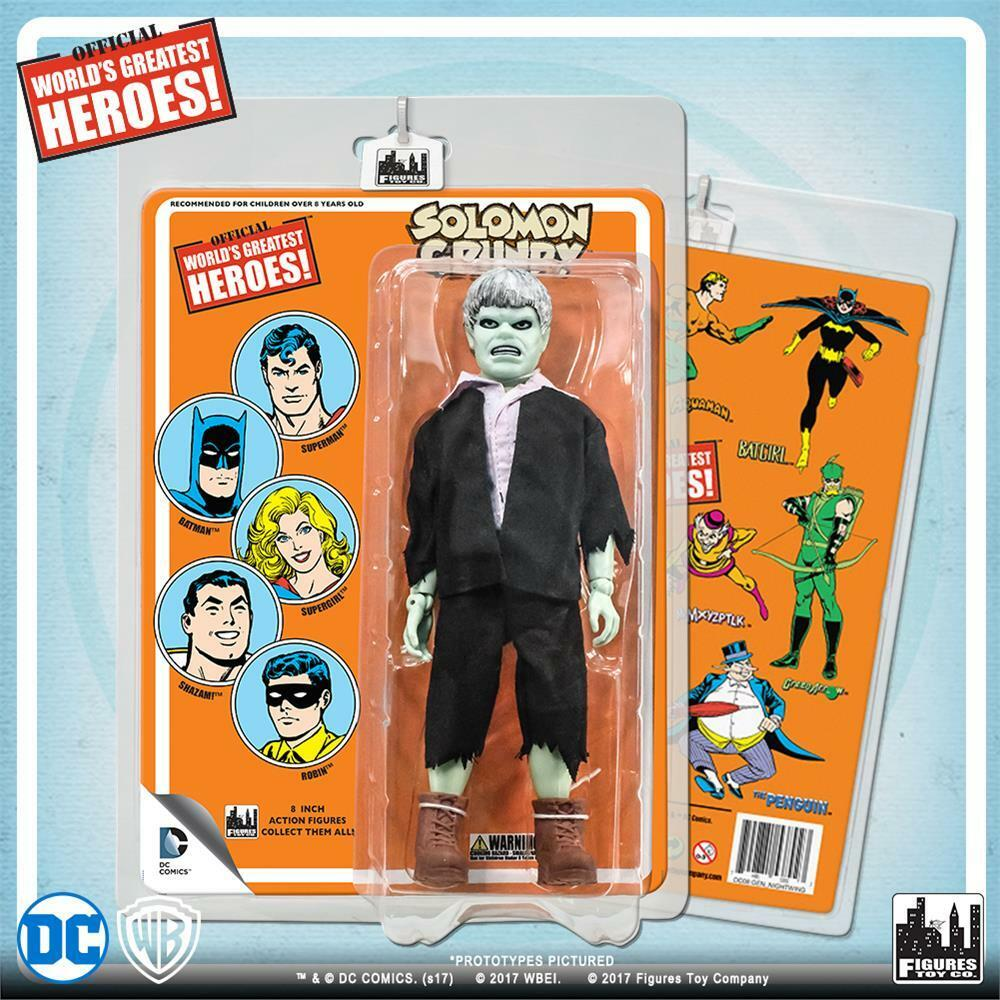 DC Comics Retro  Solomon Grundy  with retro styled card  8   MIP NEW sealed