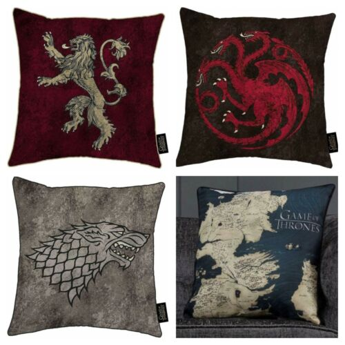 Game of Thrones Cushion Westeros Map Lannister House Stark Targaryen Sigil Gift