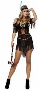 Indianerinnenkostuem-schwarz-Damenkostuem-Faschingskostuem-Karnevalkostuem