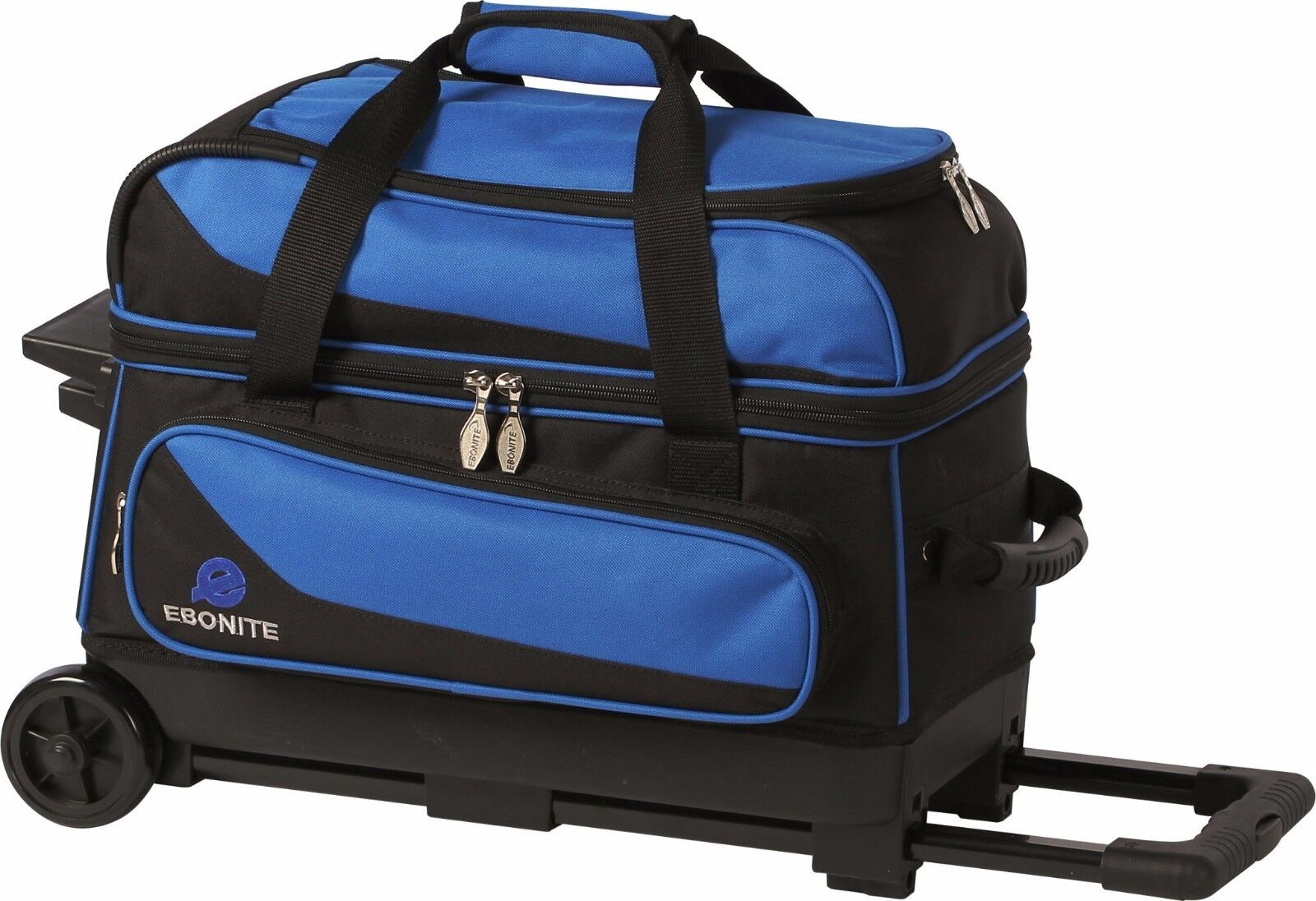 Ebonite Transport 2 Ball Roller Bowling Bag with Wheels bluee 5 Year Warranty