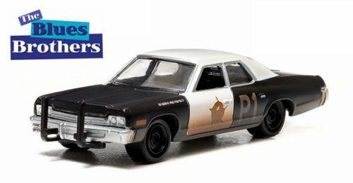 Greenlight 1//64 The Blues Brothers 1974 Dodge Monaco BLUESMOBILE 44710-C