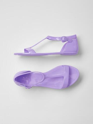 GAP Kids Girls Youth Size 2 US Purple Jelly Sandals Flats Water Beach Shoes