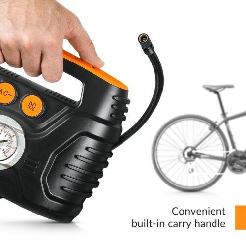 bike pump with pressure gauge analog electric portable air pump for bike \ car