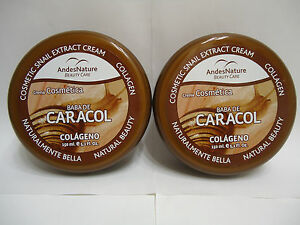 2-X-BABA-DE-CARACOL-SNAIL-EXTRACT-COLLAGEN-CREAM-ANTI-AGEING-ACNE-STRETCH-MARK
