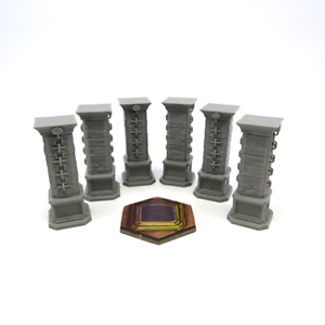 GLOOMHAVEN STONE PILLAR x6 scenery expansion plastic 3D Board game kickstarter
