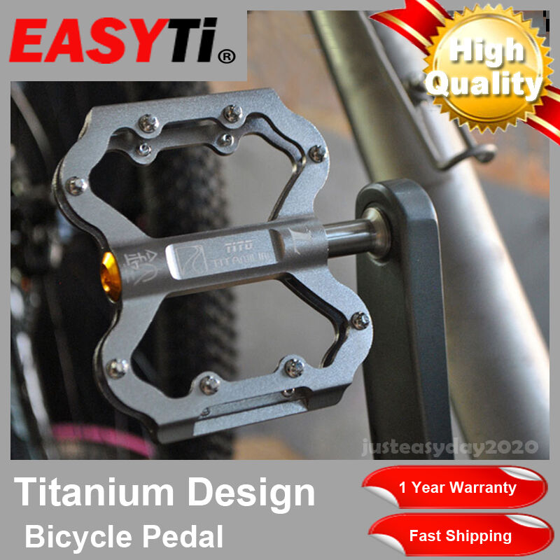 EasyTi grade 5 titanium anti slip axle pedal sealed 3 bearing bicycle pedal