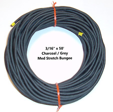 316 X 50 Coil Charcoal Grey Nylon Cover Marine Grade Bungee Cord Med Stretch