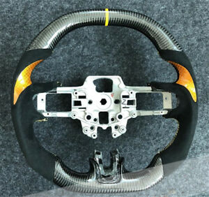 Carbon-Fiber-Steering-Wheel-For-Ford-Mustang-EcoBoost-5-0-GT-Premium-Coyote