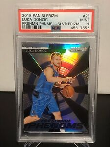 2018-Prizm-Freshman-Phenoms-Silver-Refactor-23-Luka-Doncic-RC-Rookie-PSA-Mint-9