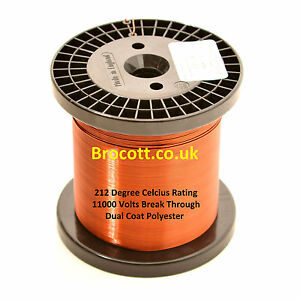 ENAMELLED COPPER WIRE 34AWG To 12AWG, MAGNET WIRE VARIOUS WEIGHTS, FREE POST UK