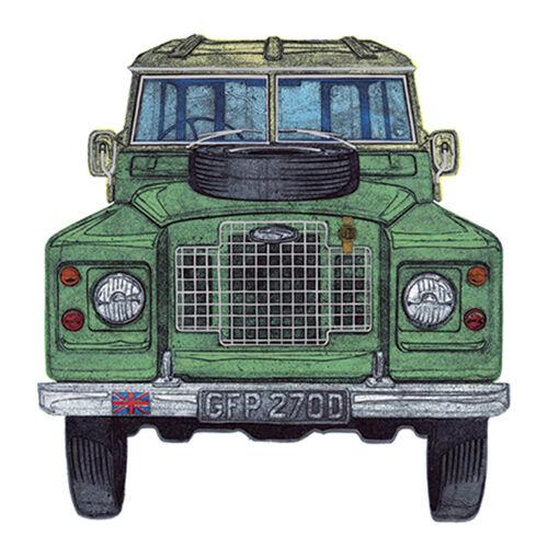 """Leere Grußkarte /"""" Land Rover /"""" Groß Quadratisch Größe 15.9cm X 15.9cm 8851 Eveh"""