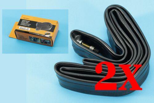 WOW 2x Fahrradschlauch 26 Zoll Reifen Schlauch schwarz Ersatzschlauch